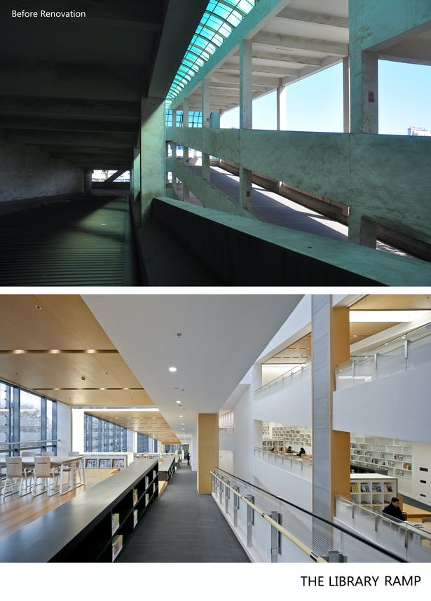 Before-after library ramp