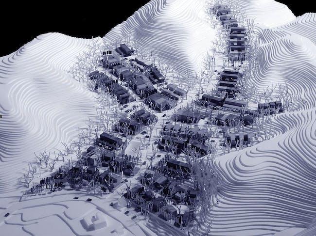 Model photo of the master plan, Image: NL Architects