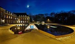 James Bond-style Pond and Parking Garage Entrance by HOSPER