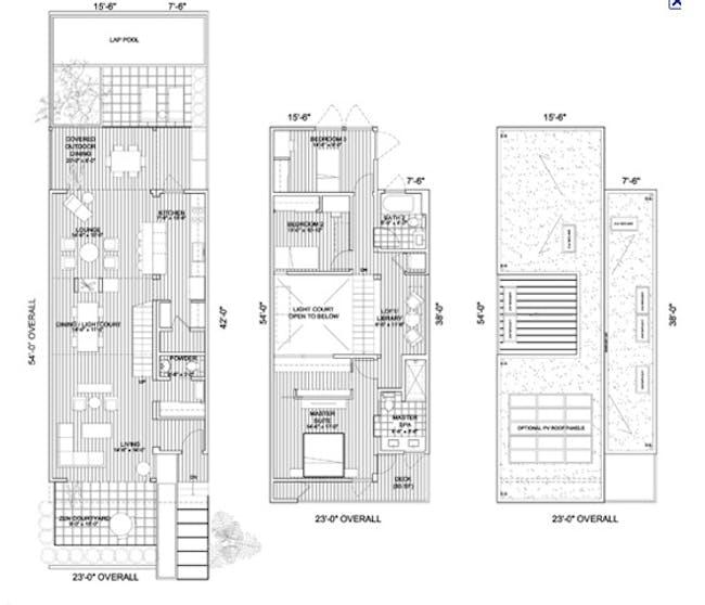 Kaufmann Desert House floor dimensions via rusty!