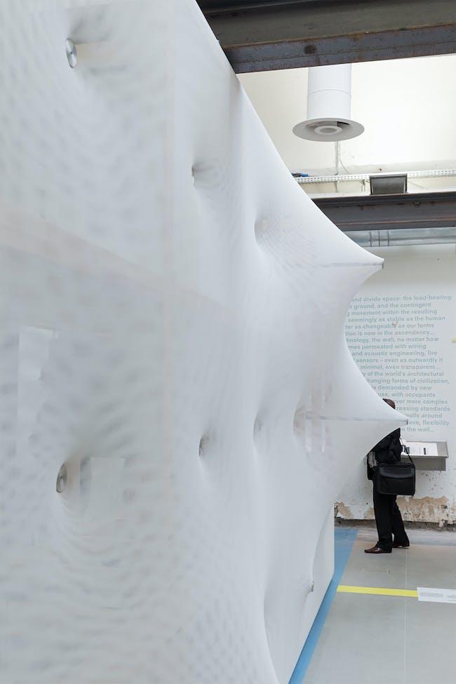 'Kinetic Wall' for La Biennale di Venezia/14th International Architecture Exhibition 'Fundamentals' in Venice, Italy by Barkow Leibinger; Photo: Iwan Baan