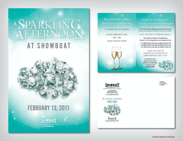 Showboat Invitation & Envelope