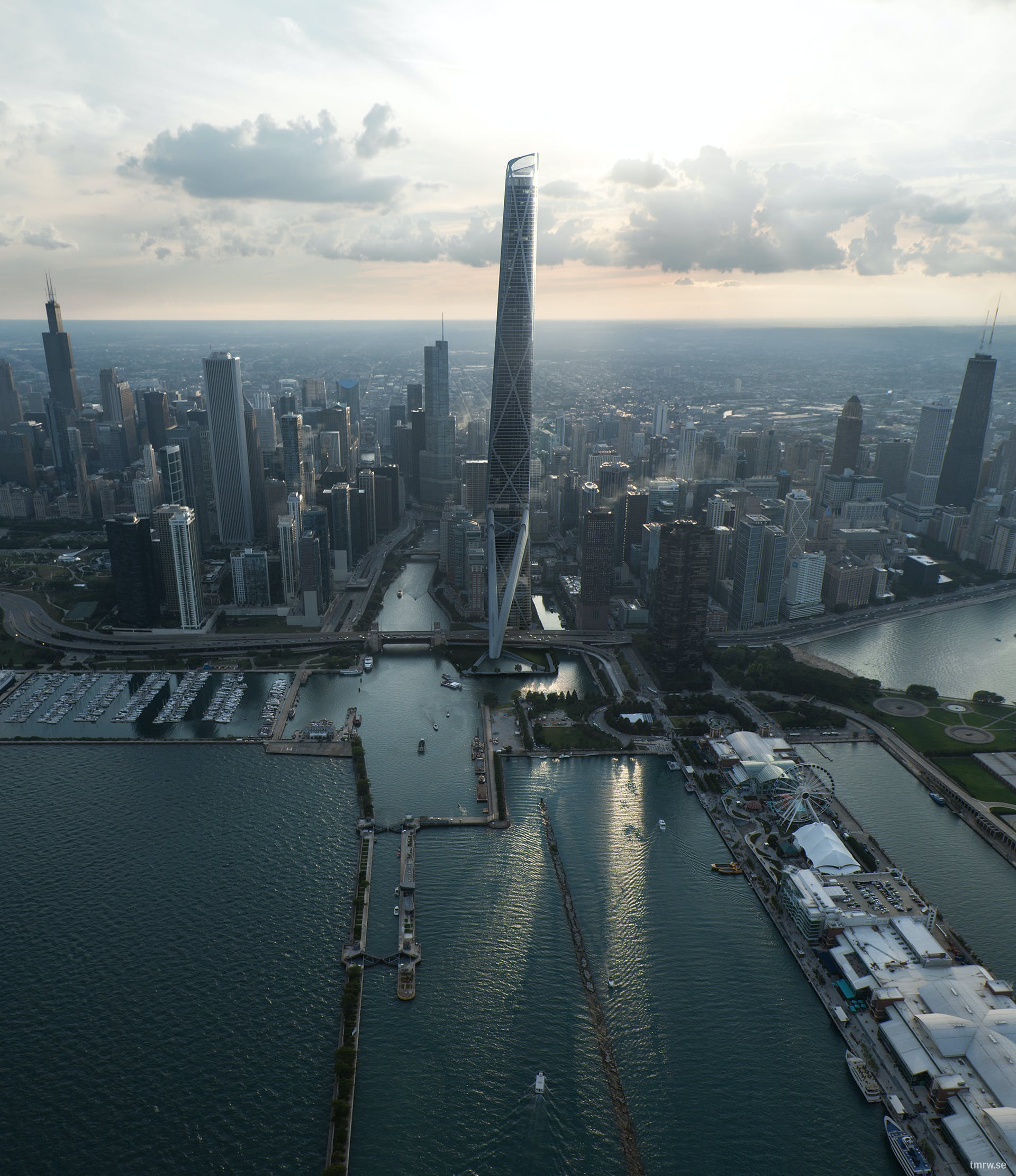 Chicago Gateway Tower By Gensler Tomorrow Ab Archinect