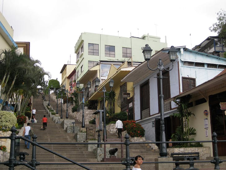 Las Peñas and the Santa Ana Hill, Guayaquil (Ecuador). Las Peñas and the Santa Ana Hill were renovated as part of the 'Malecón 2000' urban regeneration project in the city. The renovation consists the creation of paths and small plazas and overviews leading up the hill, but most importantly in...