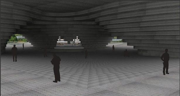 Ground Level Entrance Render