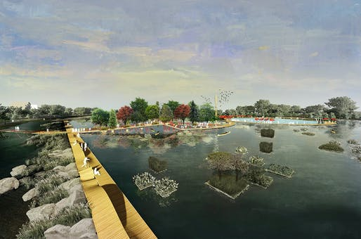 Urban Watershed Framework Plan: A Reconciliation Landscape for Conway, Arkansas by University of Arkansas Community Design Center. Image: University of Arkansas Community Design Center.