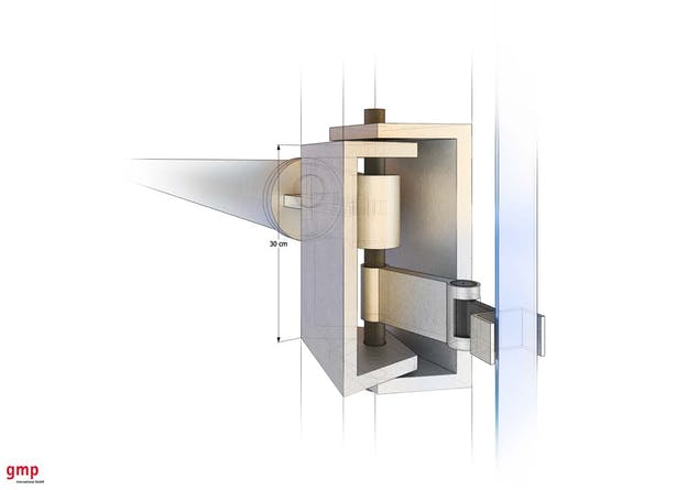 Facade Frame Detail - Joint between frames holding LED stripe © gmp