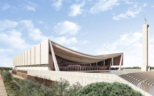 National Cathedral of Ghana. Photo credit: Adjaye Associates.