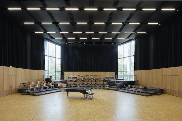 Palais de la Musique et des Congrès (PMC) Strasbourg – Rehearsal room of the Strasbourg Philharmonic orchestra
