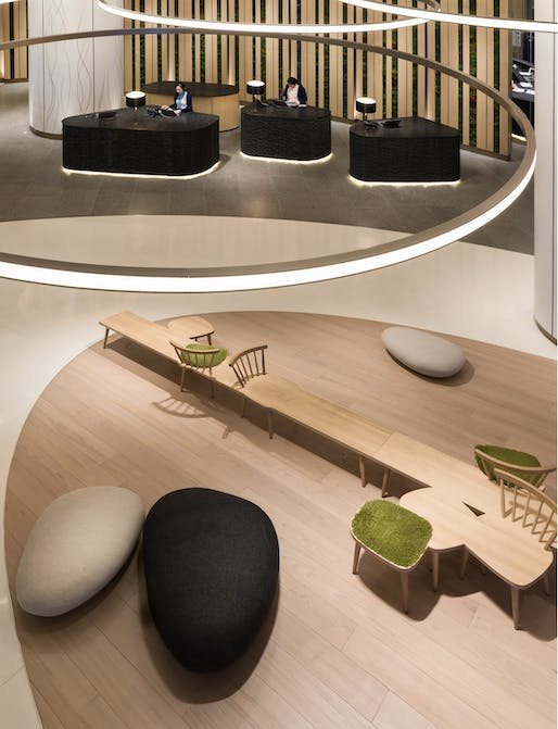 Lobby area in Novotel Century Hong Kong by Aedas Interiors. Photo: Aedas.