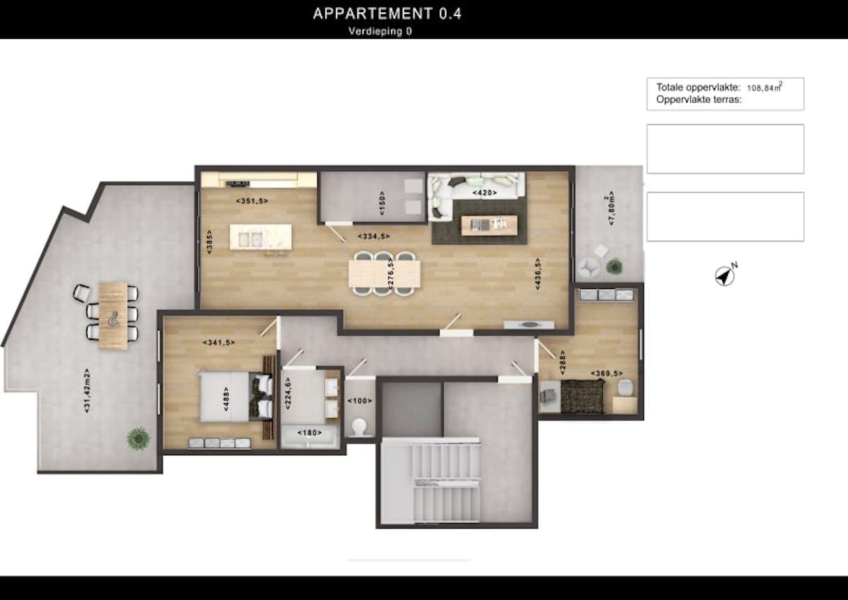 2d Floor Plan Design Rendering With Custom Texture