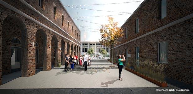 Courtyard - Admissions Building - University Island Poveglia YAC