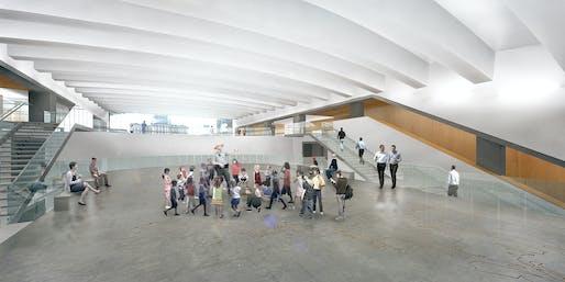 Mezzanine. Image courtesy of the architects.