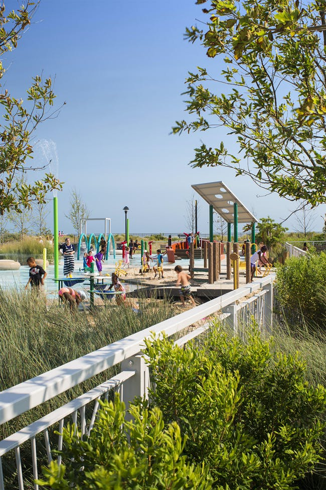 PlaNYC Far Rockaway Park Masterplan and Parks Structures in Brooklyn, NY by WXY Architecture + Urban Design; Photo: Albert Vecerka/ESTO