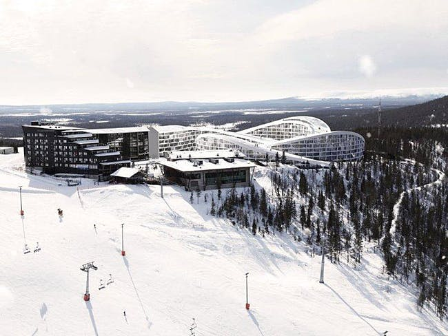 Overall view of BIG's proposed Koutalaki Ski Village (Image: BIG)