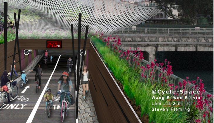 'Singapore Visions' underpass, image credit: Steven Fleming, Kelvin Wang and Lam Jia Xin. Image cour