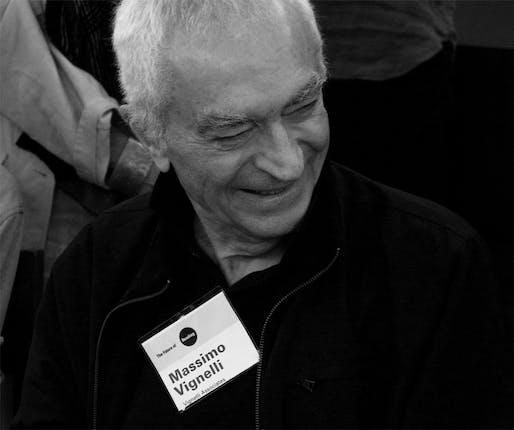 Award-winning Italian designer Massimo Vignelli.