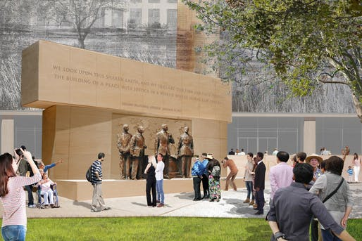 Rendering of Eisenhower Memorial from 2015