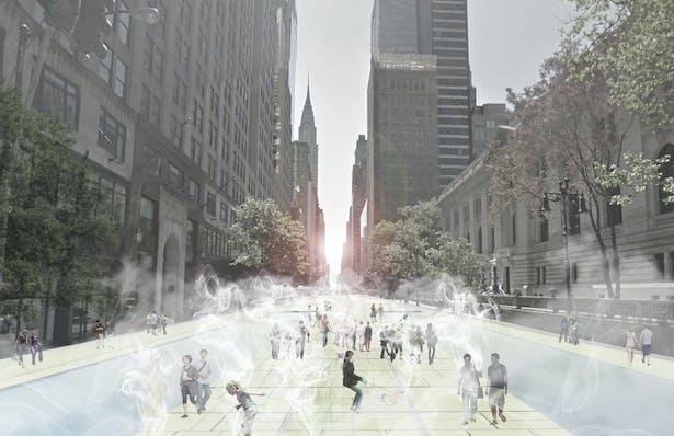 42nd Ave, New York by Nastaran Shishegar