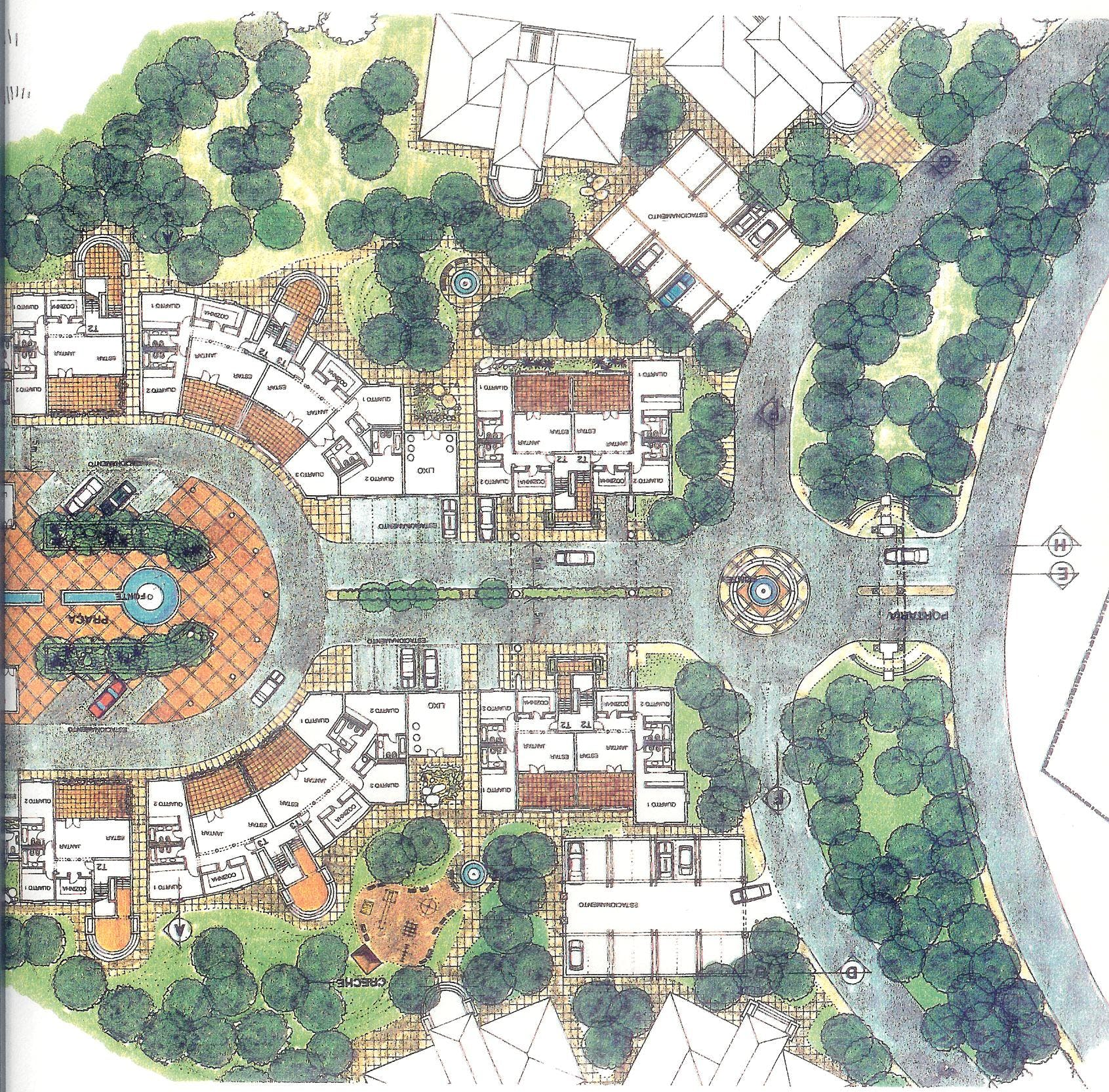 Master plan for a urban design golf course touristic village and 5 star hotel joao simao Urban design vs urban planning