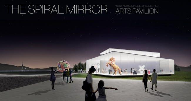 2nd-prize WKCD Arts Pavilion proposal by ROGERSPARTNERS and Arthur C. S. Kwok Architects & Associates. Image via via westkowloon.hk