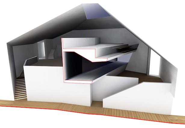 hybrid classroom and circulation