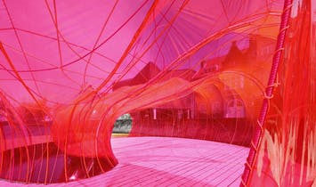 SelgasCano's floating pavilion invades the canals of Bruges for the city's Triennial