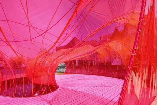 The Selgascano Pavilion at the Bruges Triennial. Photo by Iwan Baan.