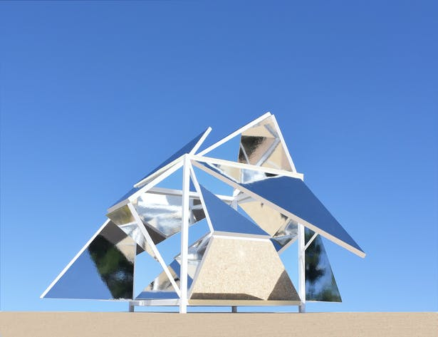 The Folding Mirrors Pavilion.