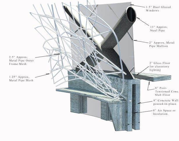 3d Section detail diagram