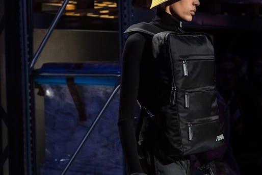 Nice frontpack bro! Design by Rem Koolhaas. Image: Prada.
