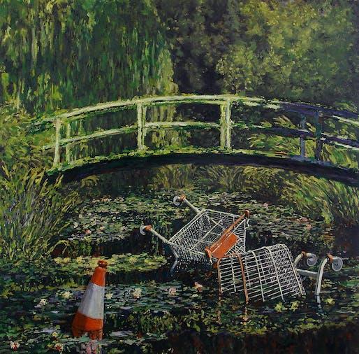 "Banksy, ""Show Me The Monet"", 2005. Image courtesy of Lazinc."