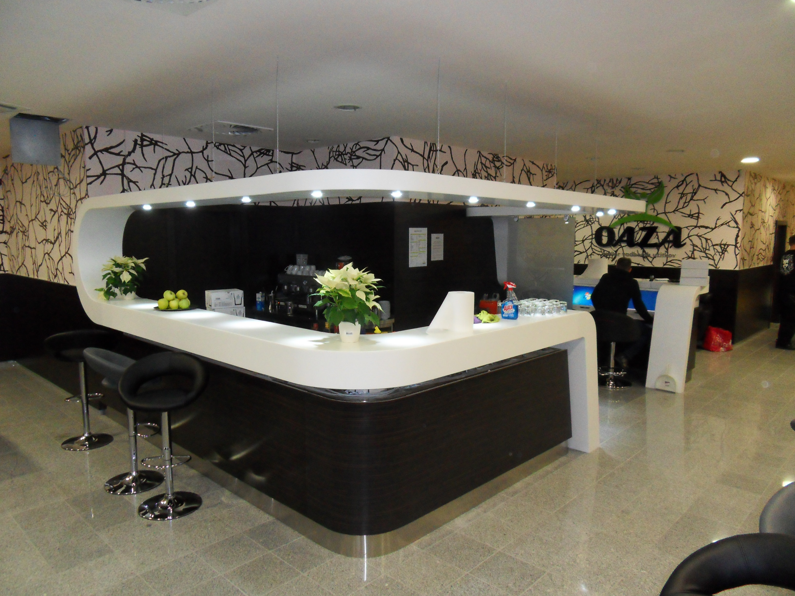Interior Design Of Entry Hall With Bar Area In Fitness Center OAZA In BTC,  Ljubljana
