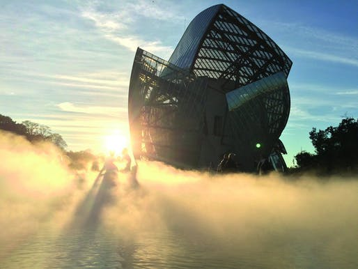 #MyFLV contest finalist image of Frank Gehry's Fondation Louis Vuitton Building, located in Paris, FR. Image: Mathieu Collart.
