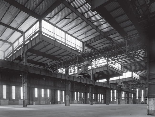 Interior of the U-Boat Hall. Photo by Olaf Mahlstedt. © BOLLES+WILSON