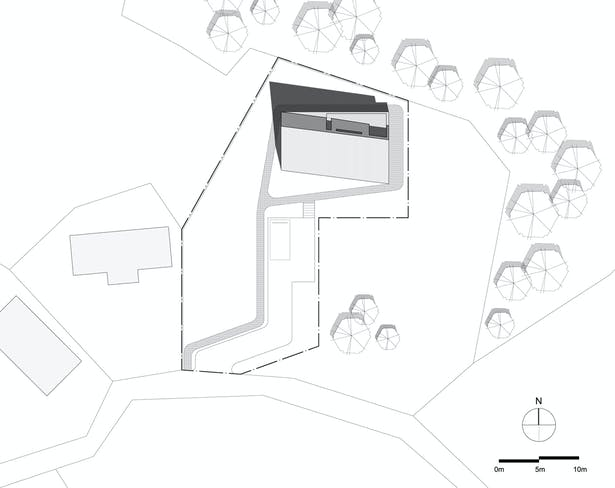 Shear House by stpmj, Site Plan