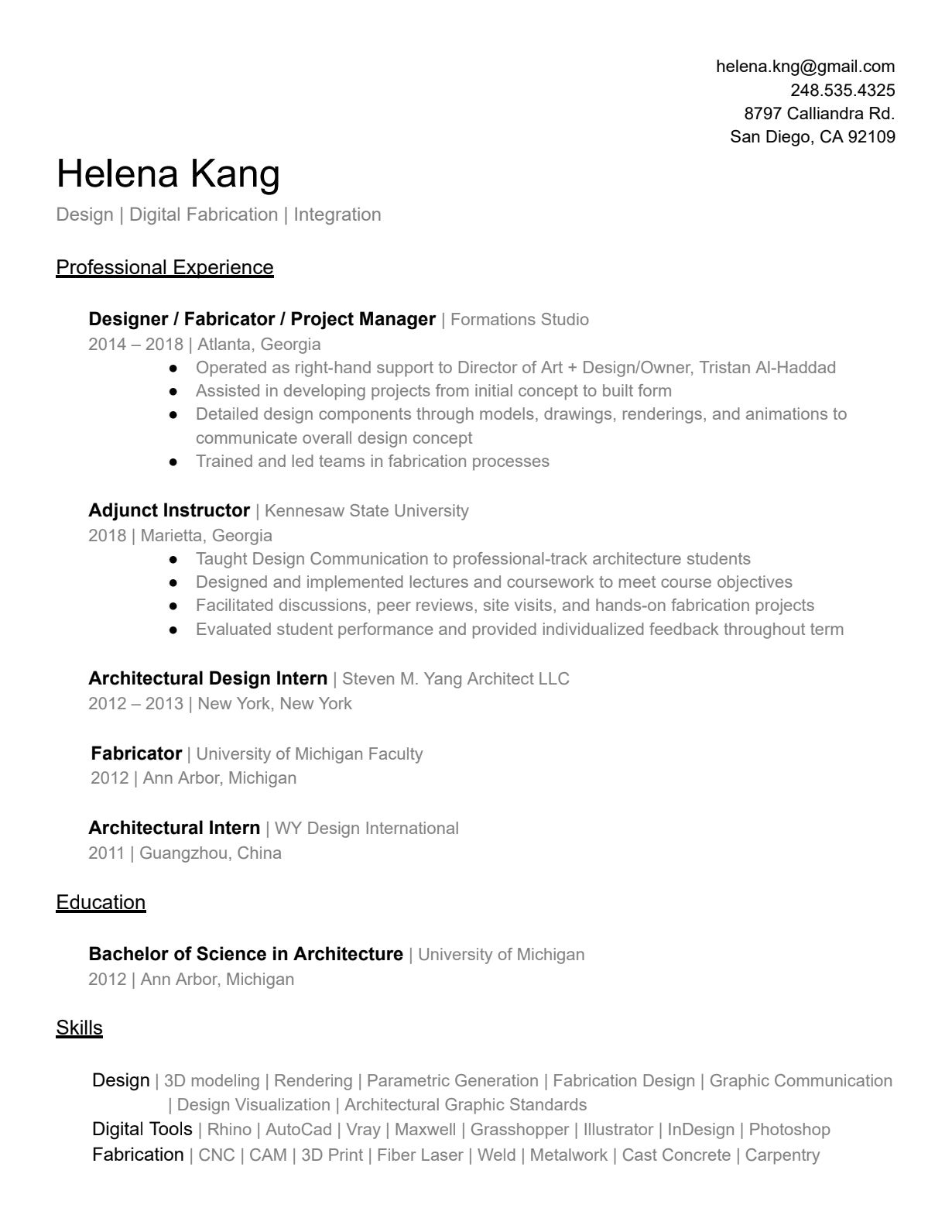 Helena Kang | Archinect