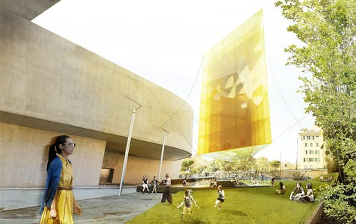 Rendering of bam!'s He, winning design of the 2013 Young Architects Program, MAXXI (image: bam!)