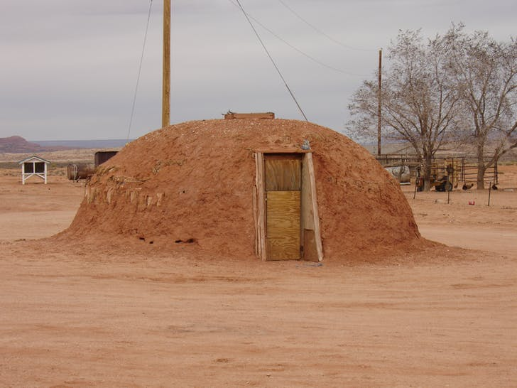 Figure 4: A Female Hogan both as womb and tomb, Navajo Nation, Utah, 2013. Image courtesy of Dialectic.