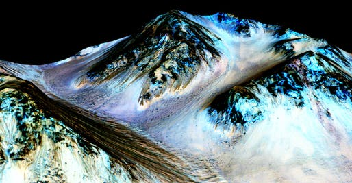 'These dark, narrow, 100 meter-long streaks called recurring slope lineae flowing downhill on Mars are inferred to have been formed by contemporary flowing water. Recently, planetary scientists detected hydrated salts on these slopes at Hale crater, corroborating their original hypothesis that the...