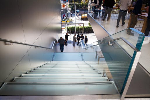 $33,333 treads and risers: Apple's staircase in Union Square. Image: CNET.