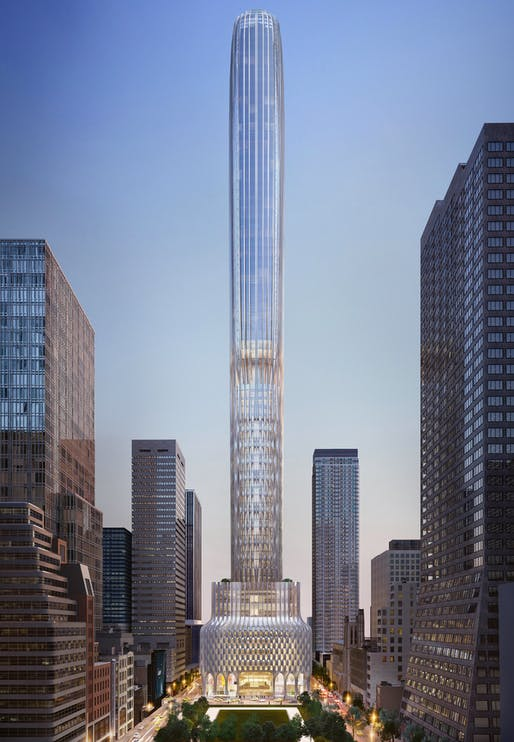 Credit: ZAHA HADID ARCHITECTS/KUSHNER COMPANIES via WSJ