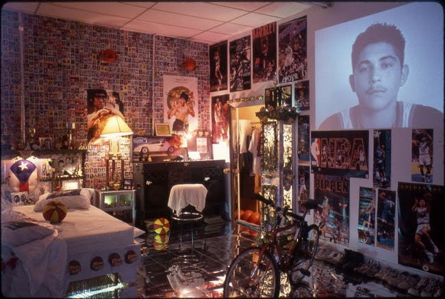 Pepón Osorio's video installation about a man in prison communicating with his young son, commissioned by the Newark Museum in an outreach effort