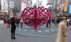Winning sculpture of 2014 Times Square Heart Design unveiled