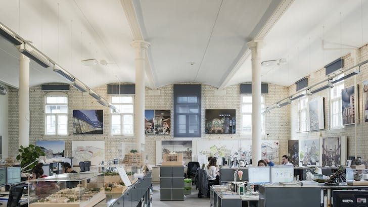 BDP (Building Design Partnership). In present location since: 2003. Staff: London: approx. 300 / total approx. 903. Former use of building / studio: Brewery. Photo credit: Marc Goodwin/Archmospheres.