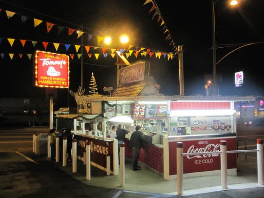 LA is famous for its iconic roadside burger stands and taco joints. But as parts of the city begin to grow denser – and more gentrified –many will disappear. Credit: Wikipedia