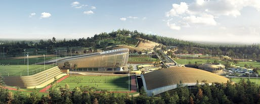 Korean National Football Centre. Visualization: Brick Visual