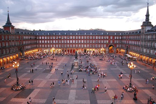 A new plan hopes to add a lot more greenery to Spain's capital city. Image: Plaza Mayor de Madrid, via Wikipedia