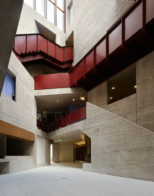 An Gaeláras Irish Language Arts and Cultural Centre - Derry, Northern Ireland by O'Donnell and Tuomey. Shortlisted for the RIBA Stirling Prize in 2011. Photo credit: Dennis Gilbert