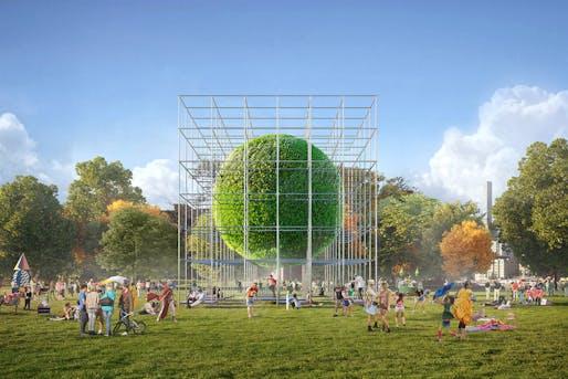 2020 City of Dreams Pavilion finalist: Ecosphere by Murr Architekten (Sebastian Ballauf, Daniela Ditta, Oliver Jahnke, Carlos Martinez, Katherina Murr, Sebastian Murr, and Bojan Vucen)
